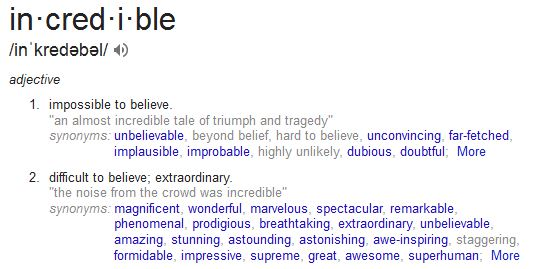 incredible synonyms