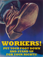 workers put their feet down