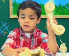 kids react to rotary phones