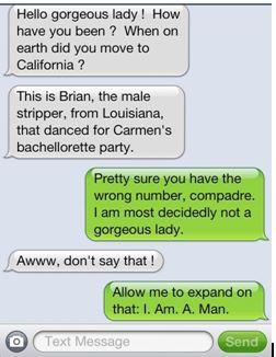text message mistaken identity