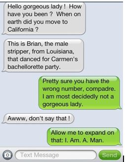 text message mistaken identity