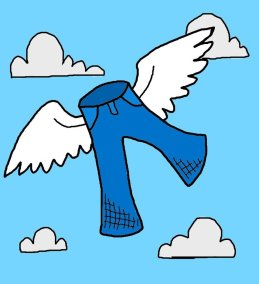 Image result for flying by the seat of your pants clipart