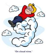 be on cloud 9