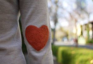 wear heart on sleeve