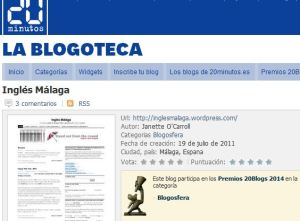 Inglés Málaga is up for an award