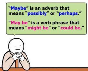 maybe may be