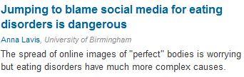 social media eating disorders