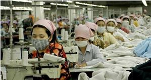 working conditions Cambodia textile factory