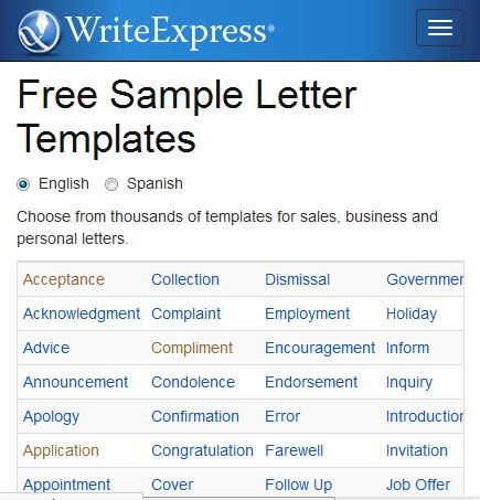 Writing samples free sample letter templates ingls mlaga there are a lot of different samples including writing to an insurance company to make a claim writing a complaint letter writing to apply for a job and spiritdancerdesigns