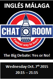Speaking Chat Room Malaga 8 Oct 2015