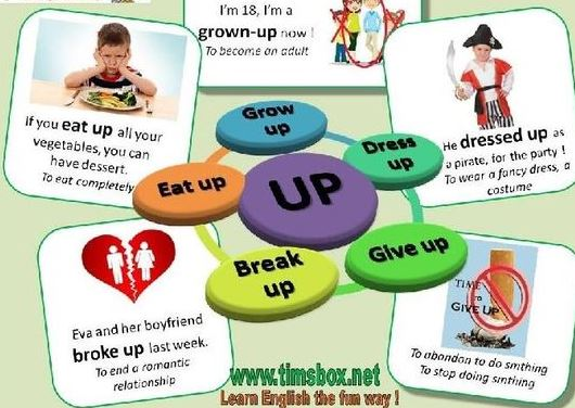 Phrasal verb up