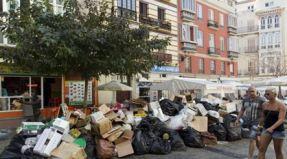 Malaga strike rubbish collection