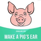 Make a pig's ear