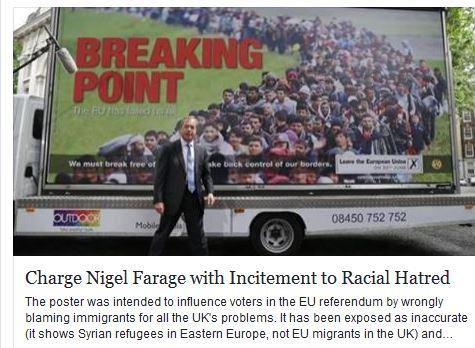 Charge Nigel Farage