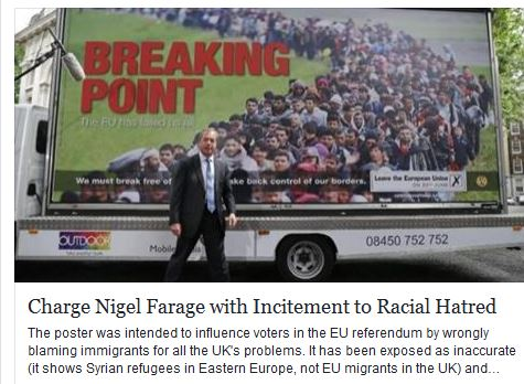 Charge Nigel Farage