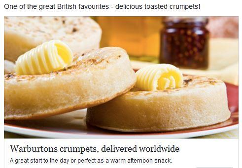 Crumpets British snack