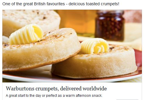Crumpets British snack