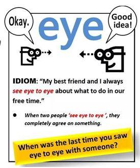 see-eye-to-eye
